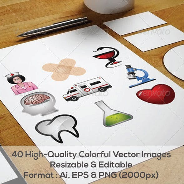 40 Medical Vector icons