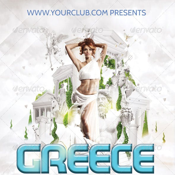 Flyer Template Greece Romance
