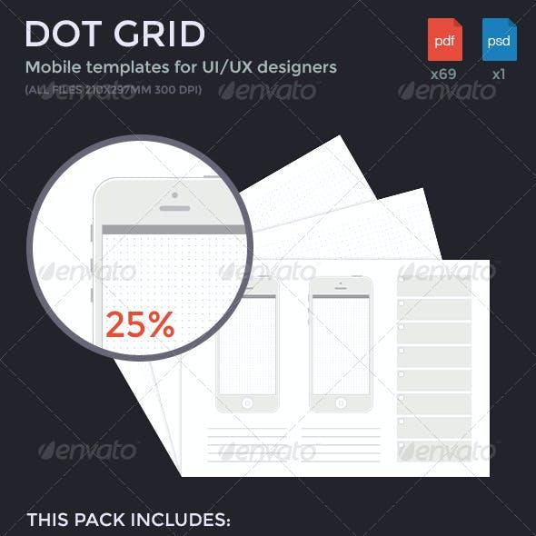 Dot Grid Mobile Templates