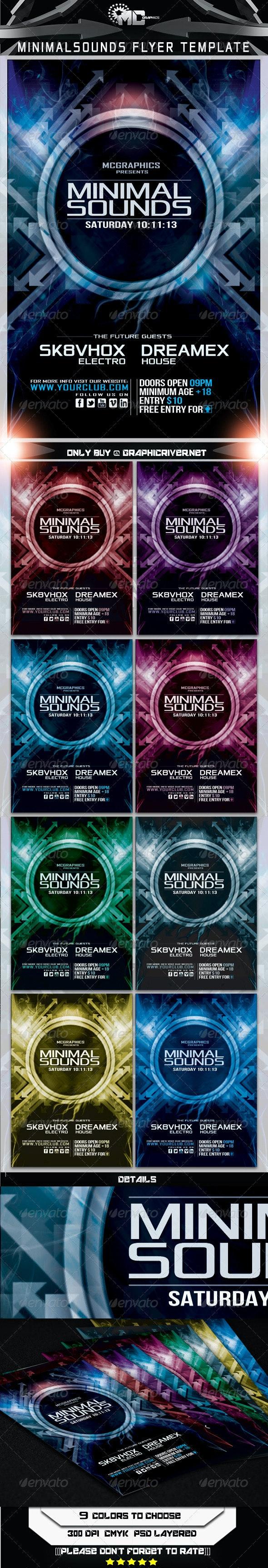 Minimal Sounds Flyer Template - Print Templates