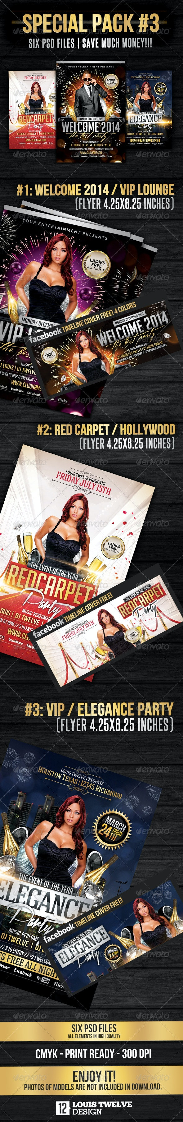 Special Bundle 03 | Flyers + Fb Covers - Clubs & Parties Events