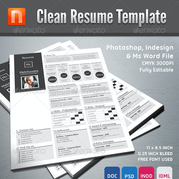 Clean Resume Template V1