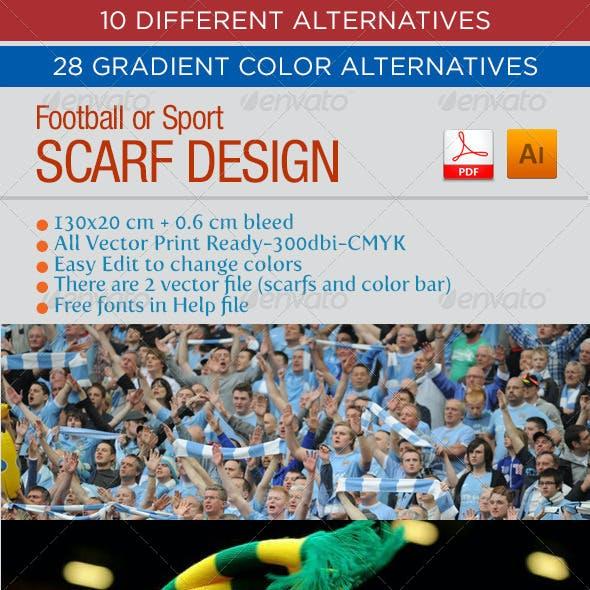 Football - Sport Scarf Design