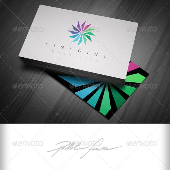 Spiral Wheel Logo - Pinpoint Marketing Logo