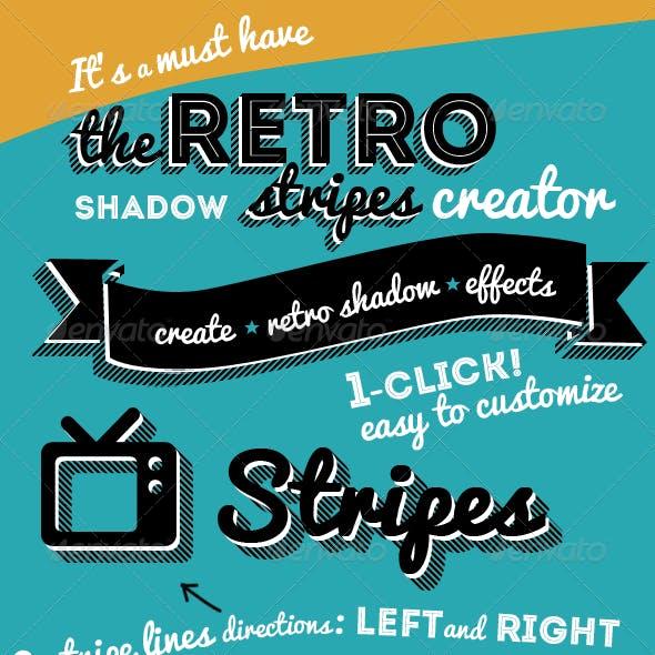 Retro Stripes Shadow Photoshop Creator