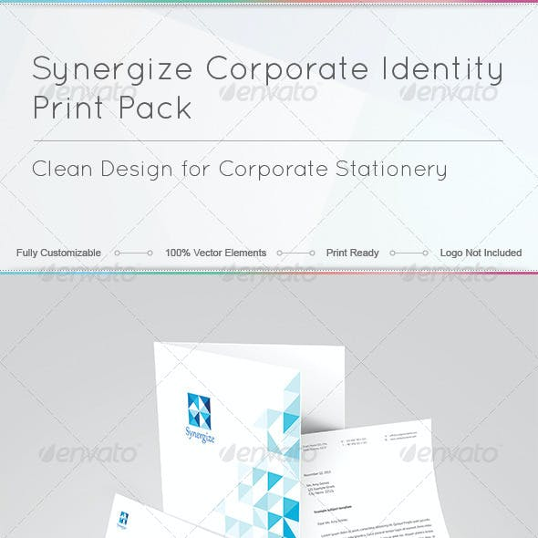Synergize Corporate Identity Print Pack