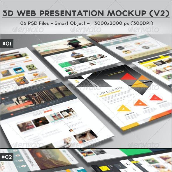 3D Web Presentation Mockup (V2)