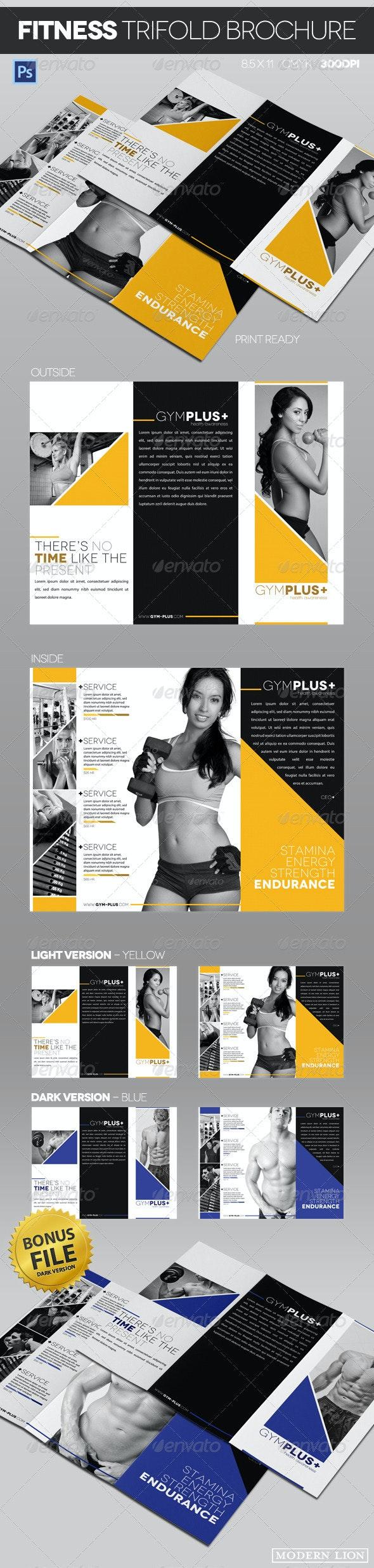Fitness Gym Trifold Brochure - Informational Brochures