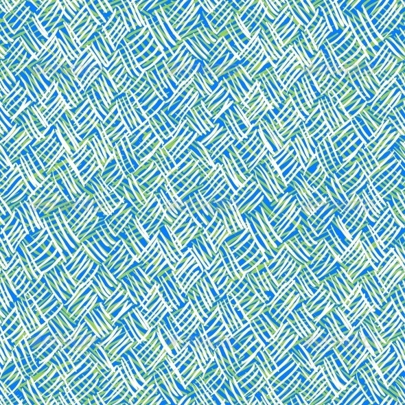 Vector Pattern with Brushed Crossing Thin Lines - Patterns Decorative