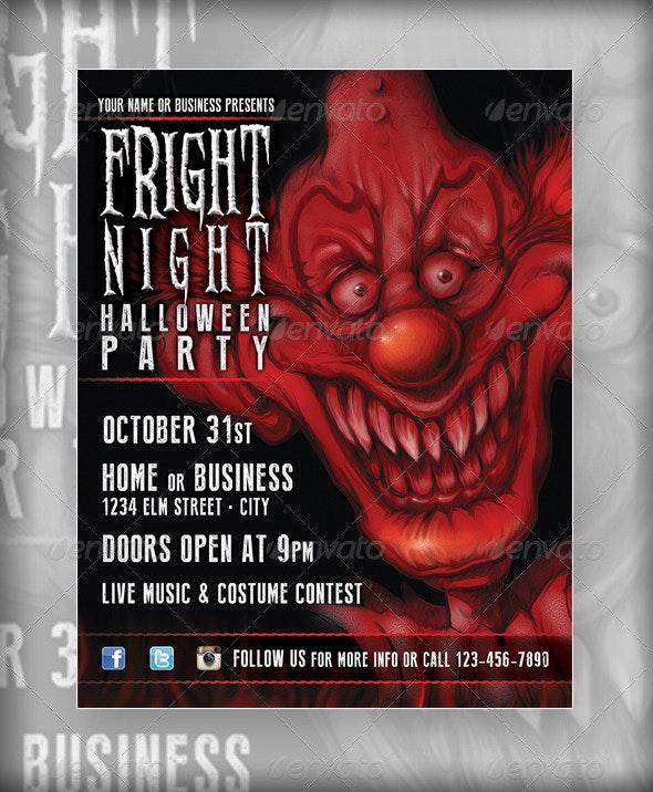 Halloween Flyer - Evil Clown - Print Templates
