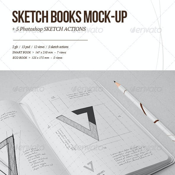 Sketchbook Mock-up & Sketch Actions
