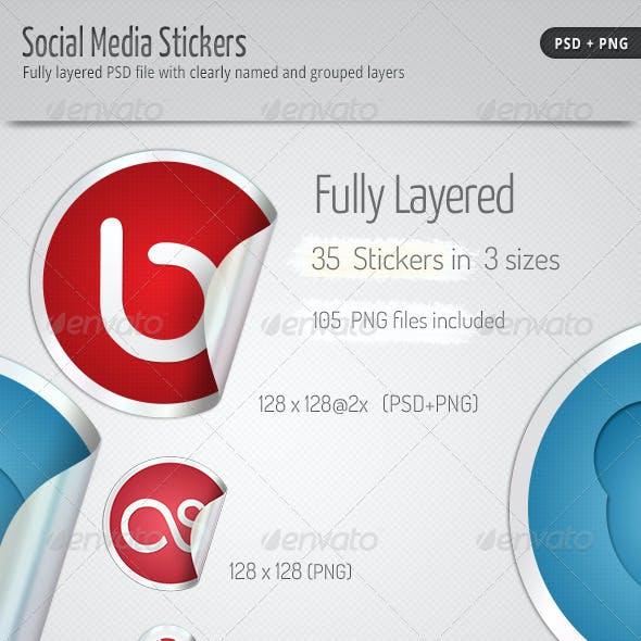 35 Social Media Stickers