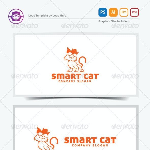 Smart Cat Logo Template