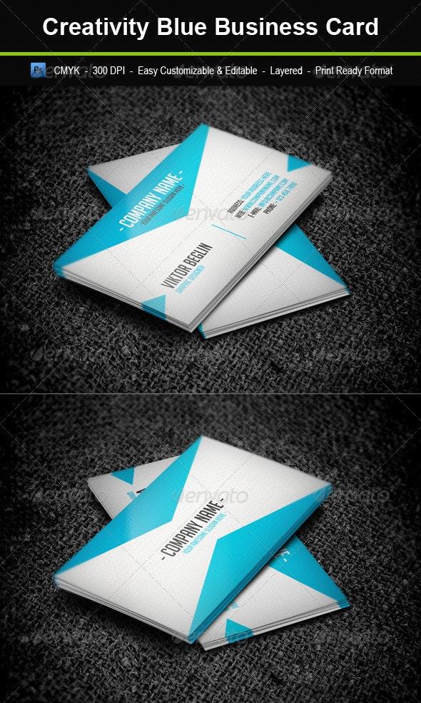 Creativity Blue Business Card - Creative Business Cards