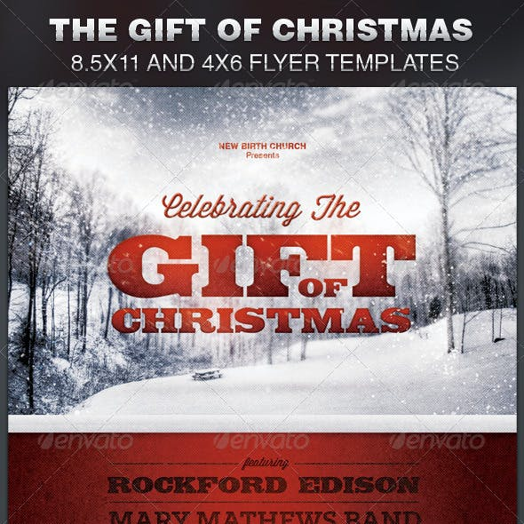 Celebrating the Gift of Christmas Church Flyer