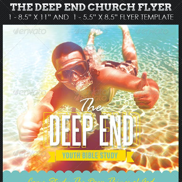 Deep End Youth Church Flyer Template