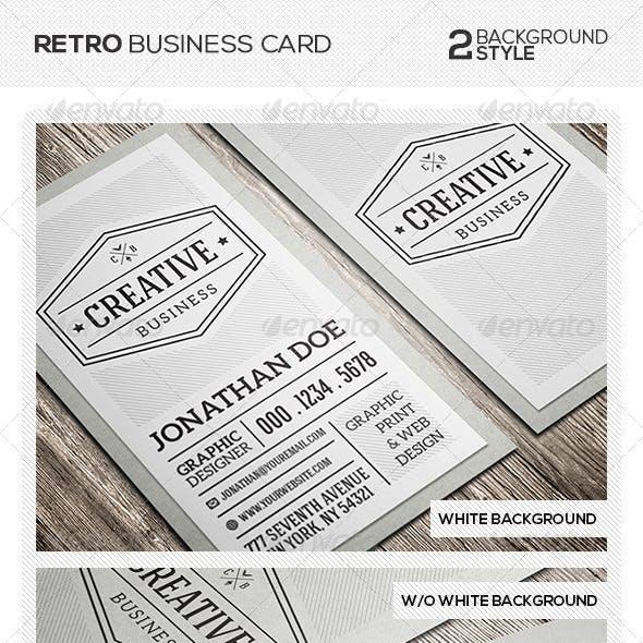 Retro Vintage Business Card