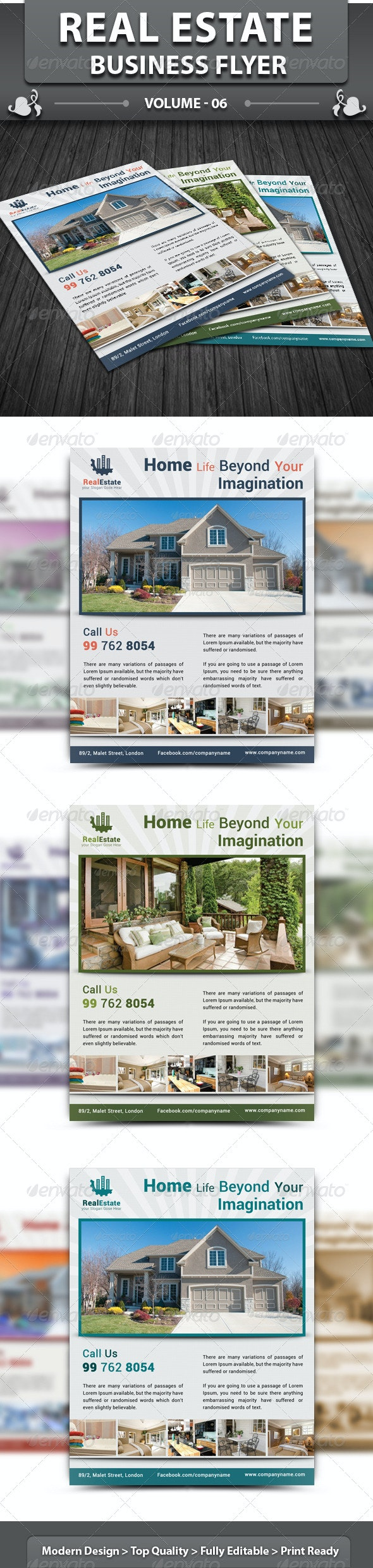 Real Estate Business Flyer | Volume 6 - Corporate Flyers