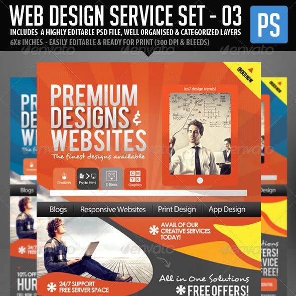 Web & Graphic Design Service Set - 3