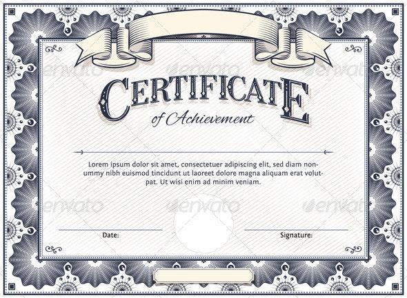 Certificate Template - Borders Decorative