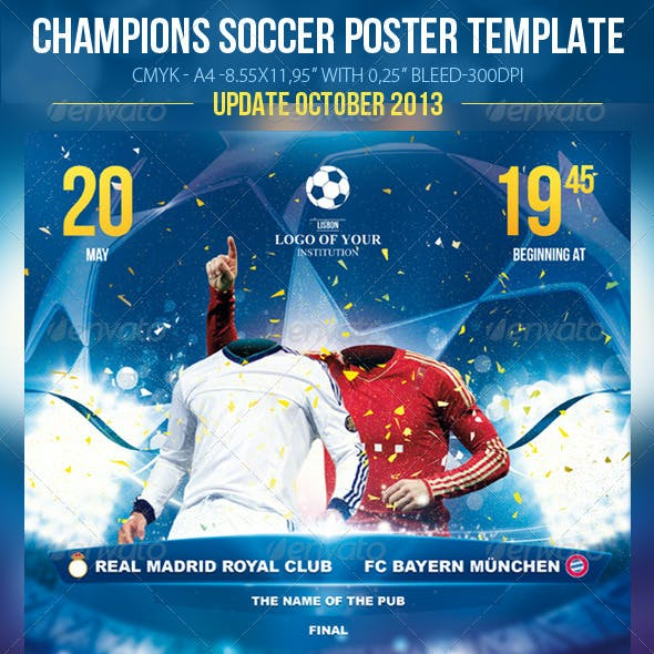 Champions Soccer Template