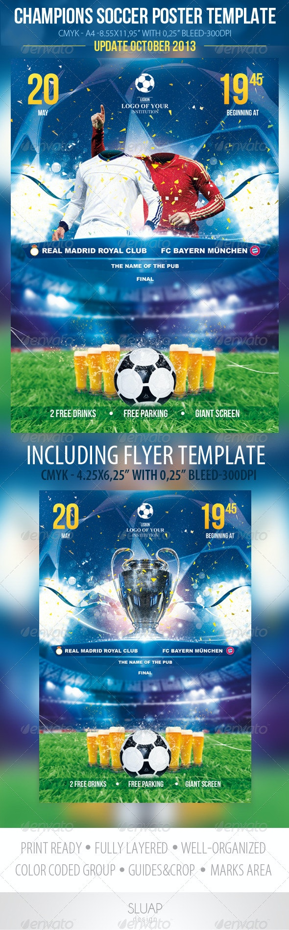 Champions Soccer Template - Sports Events