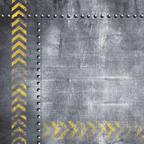 Grunge Metal Plates Set (Set of 7)