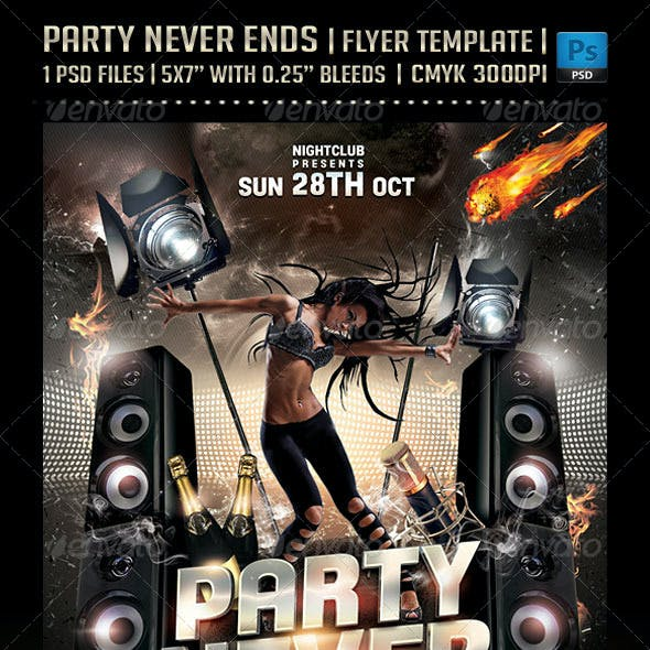 Party Never Ends Flyer Template