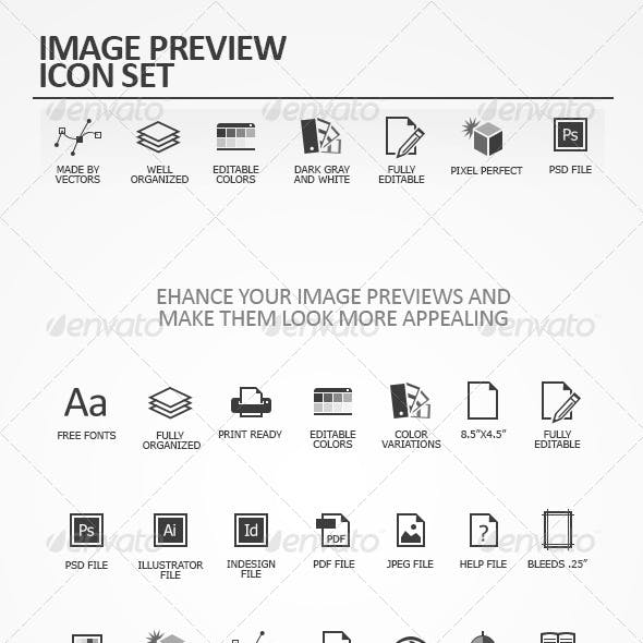 Image Preview Icon Set