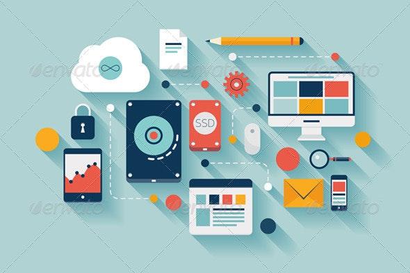 Data Storage Concept Illustration - Communications Technology