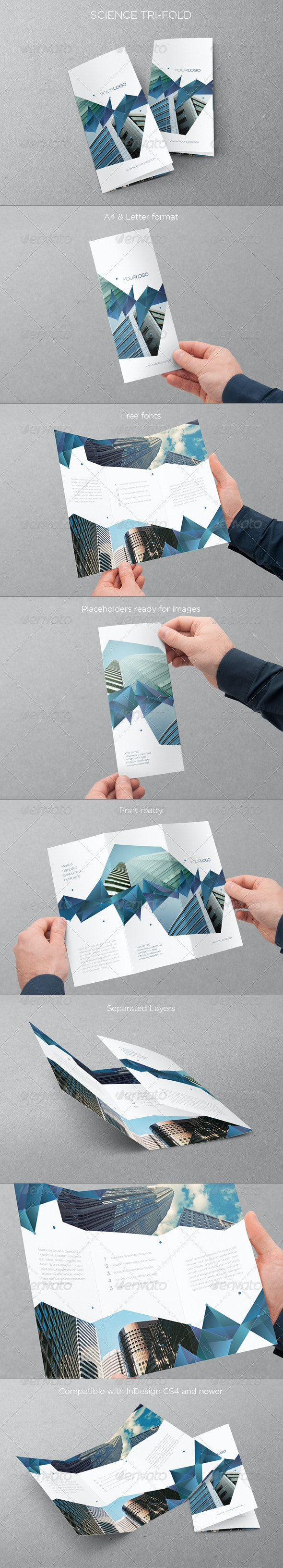 Science Trifold - Brochures Print Templates