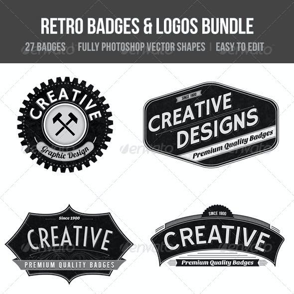Retro Badges& Logos Bundle