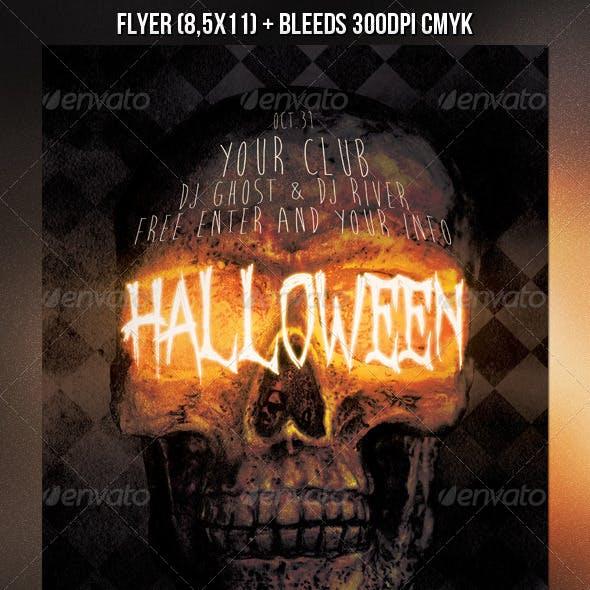 Skull Halloween Flyer