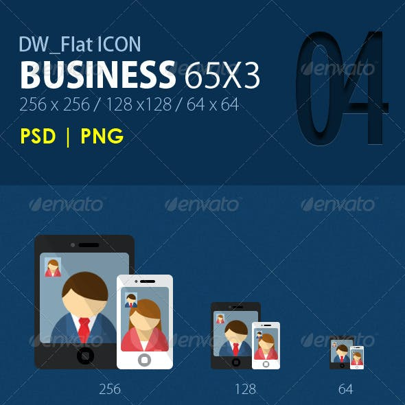 65 Flat Icons (Business)