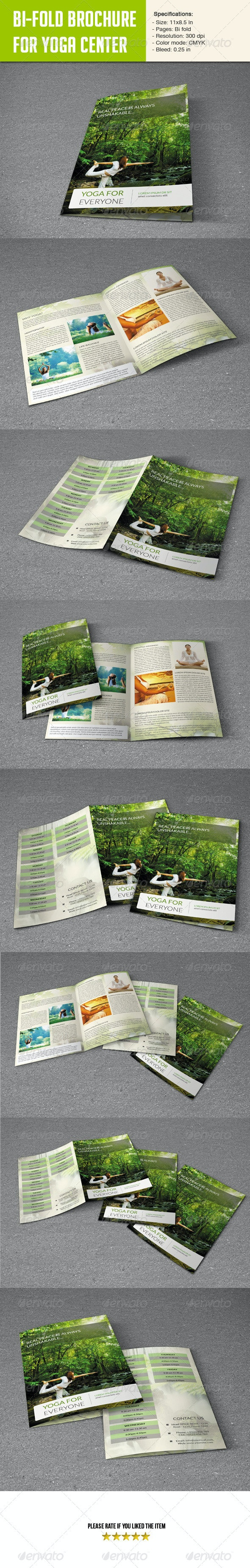 Bifold Brochure for Yoga Center - Brochures Print Templates