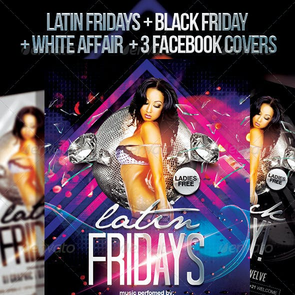 Latin Fridays + White Affair | Flyer + FB Covers