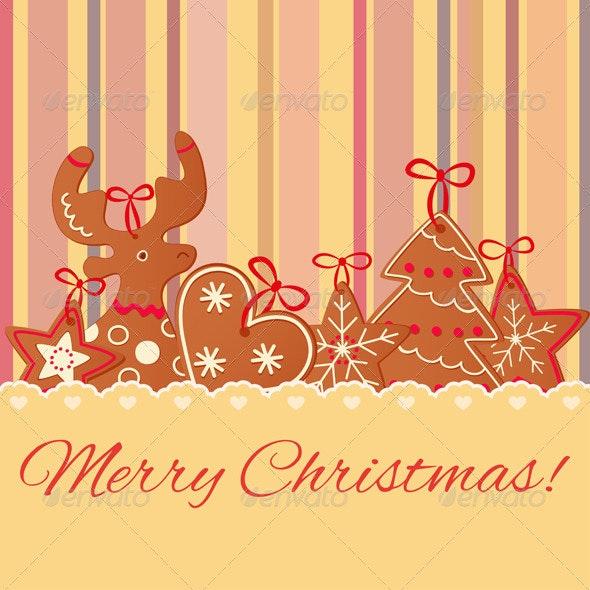 Merry Christmas Greeting Card Design - Christmas Seasons/Holidays