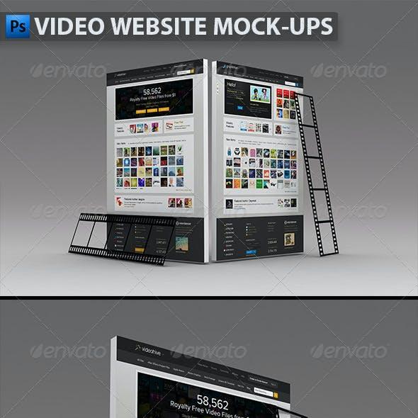 Video Website Mock-ups