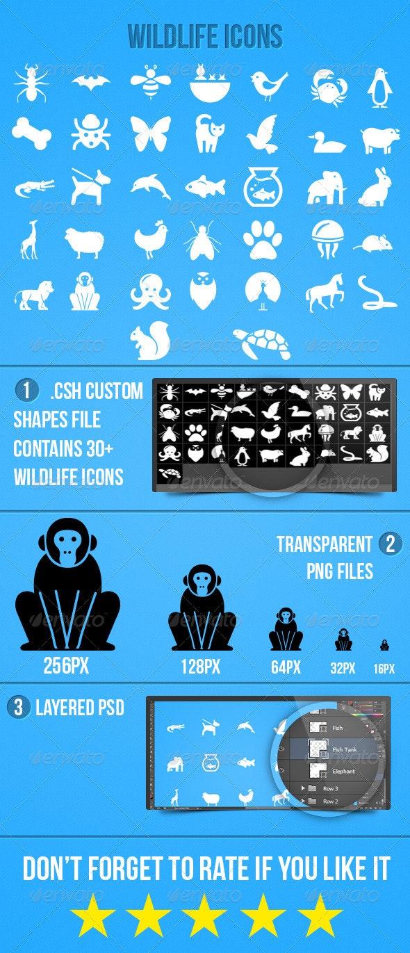 Wildlife Icons - Animals Characters