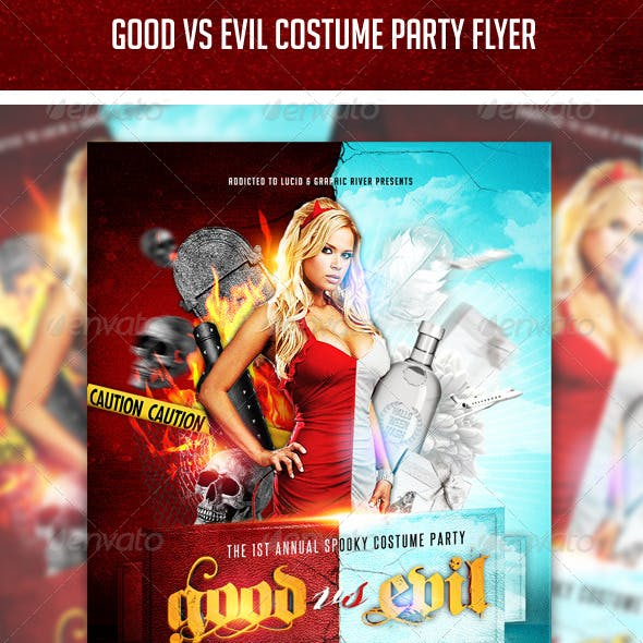 Good vs Evil Costume Party Flyer
