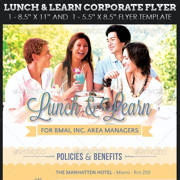 Lunch Learn Corporate Flyer Template