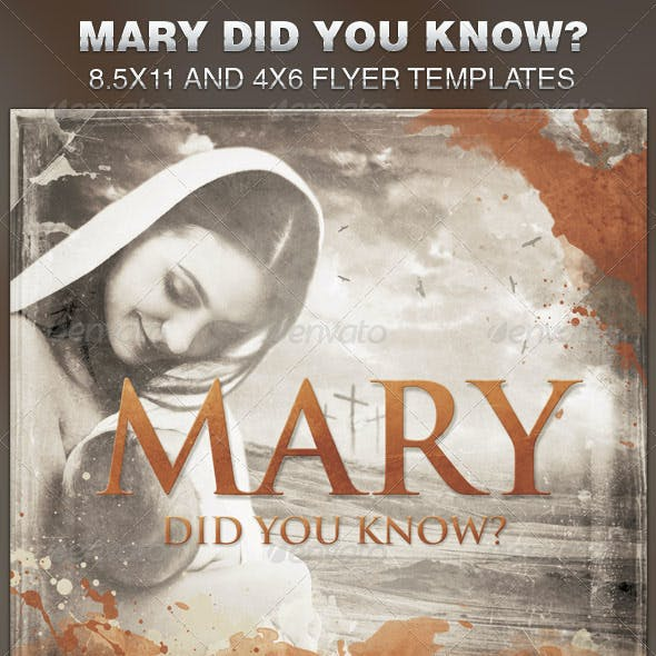 Mary Did You Know? Church Flyer Template