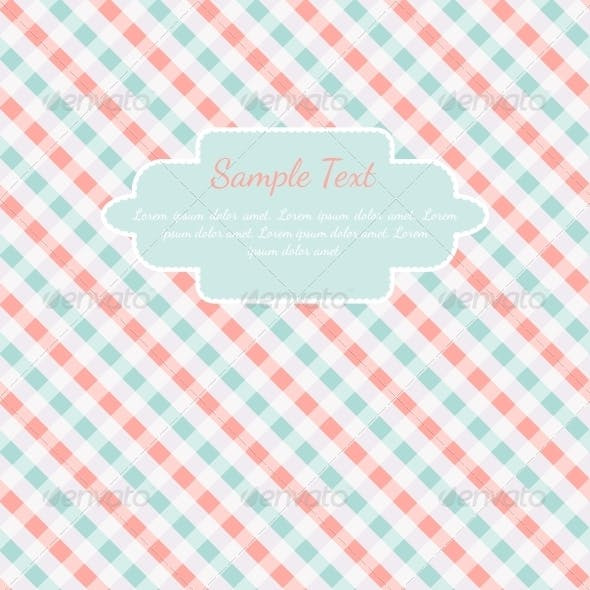Checkered Coral and Turquoise Card Template