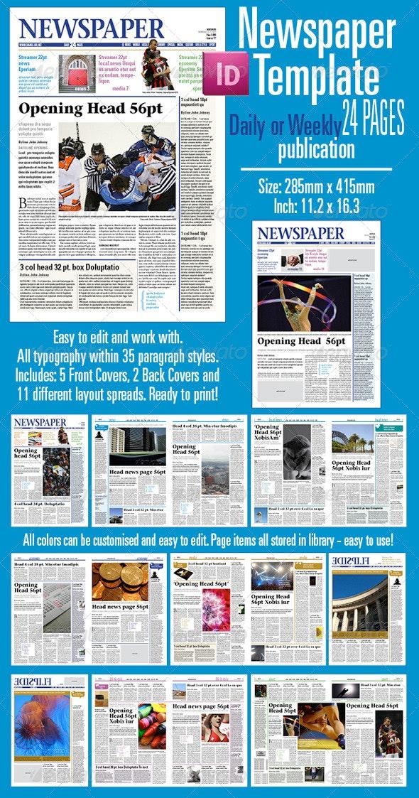 Newspaper Template  - Newsletters Print Templates