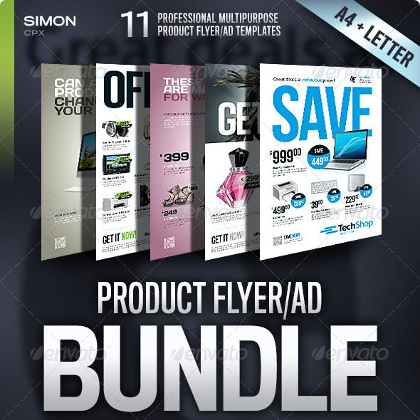 Product Flyer/Ad Bundle Vol. 1-2-3