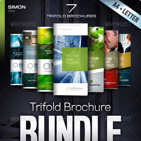 Trifold Brochure Bundle Vol. 1-2-3