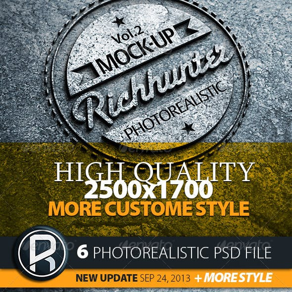Mock-Up Logo 3D Realistic Presentation / Vol.2