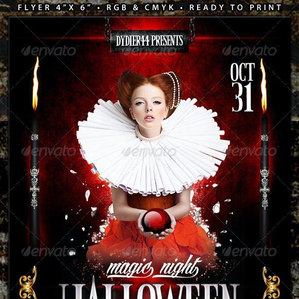 Magic Night Halloween (Flyer Template 4x6)