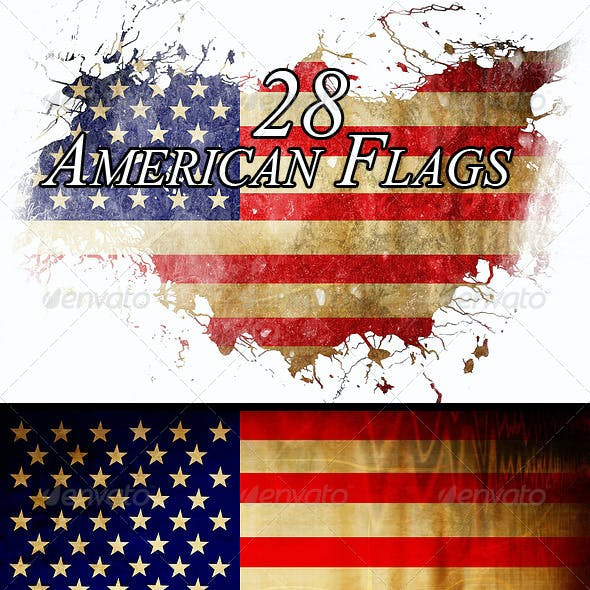 28 American Flag Backgrounds (Different Styles)
