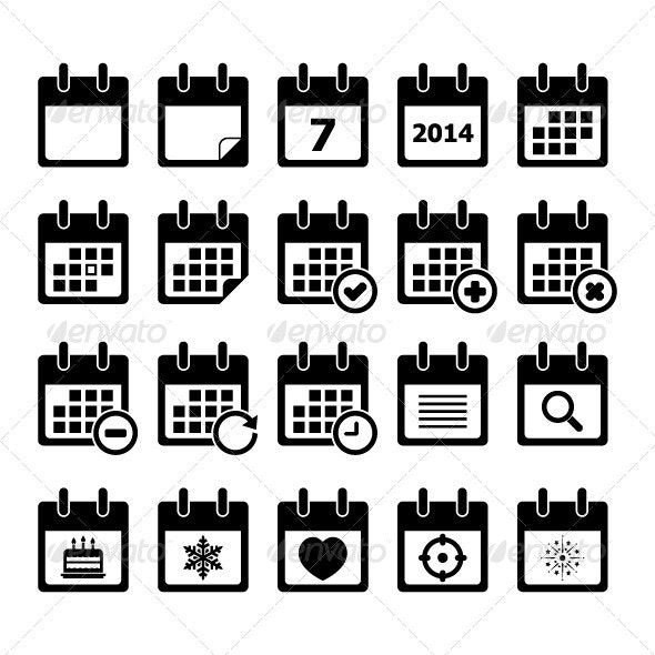 Calendar Icon - Web Elements Vectors